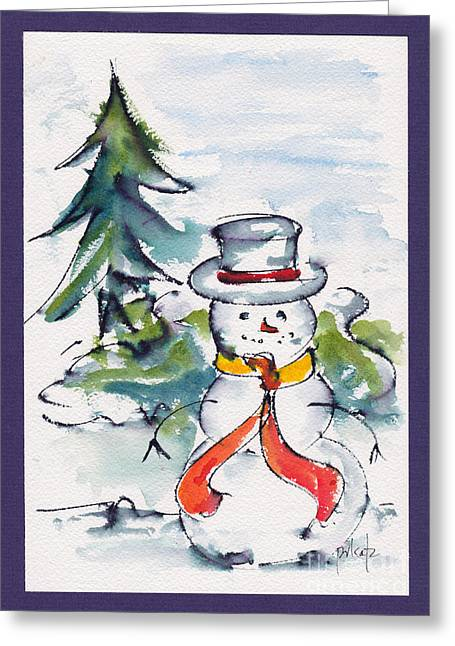 Pauseworks Studio Greeting Cards - Frosty The Snowman Greeting Card by Pat Katz