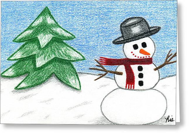 Winter Wonderland Drawings Greeting Cards - Frostyland Greeting Card by Lisa Ullrich