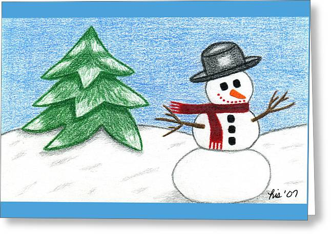 Frostyland Greeting Card by Lisa Ullrich