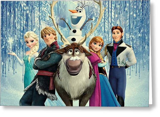 Frozen 255 Greeting Card by Movie Poster Prints