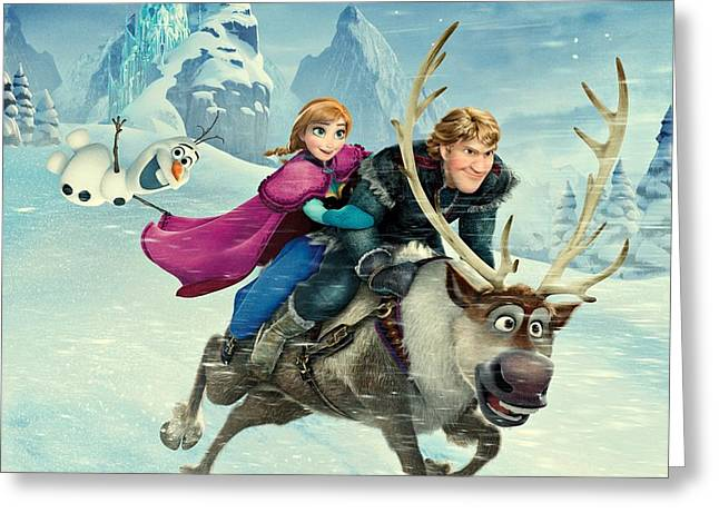 Frozen 256 Greeting Card by Movie Poster Prints