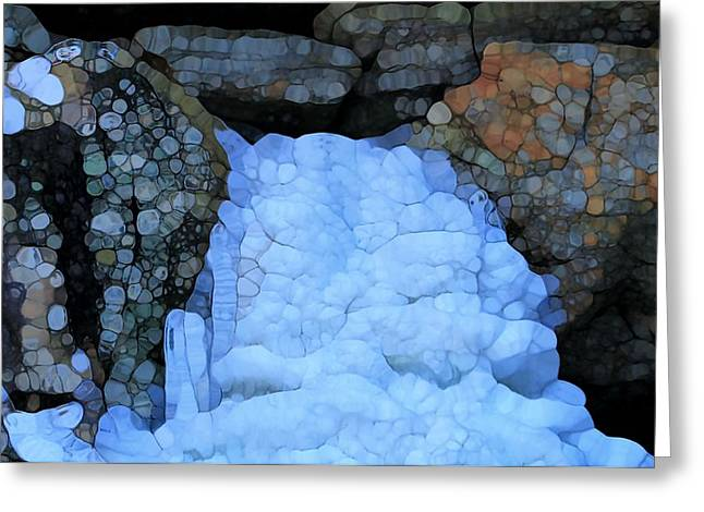 Abstract Waterfall Greeting Cards - Frozen Abstract Waterfall Greeting Card by Dan Sproul