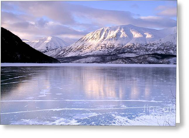 Best Sellers -  - Nature Greeting Cards - Frozen Alaska Time to Ice Skate Greeting Card by Christopher Boswell