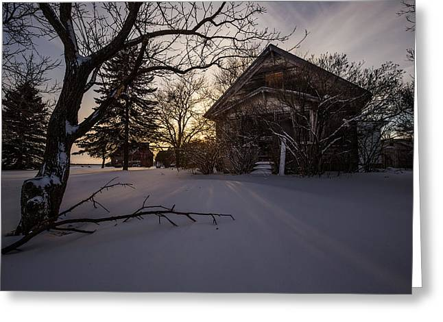 Fresh Snow Greeting Cards - Frozen and Forgotten 2 Greeting Card by Aaron J Groen
