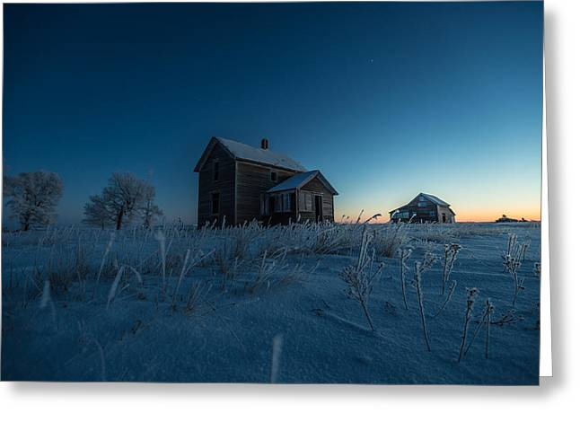 Abandoned Houses Photographs Greeting Cards - Frozen and Forgotten Greeting Card by Aaron J Groen