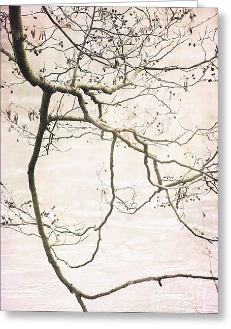 Overhang Mixed Media Greeting Cards - Frozen Art Greeting Card by Angela Doelling AD DESIGN Photo and PhotoArt