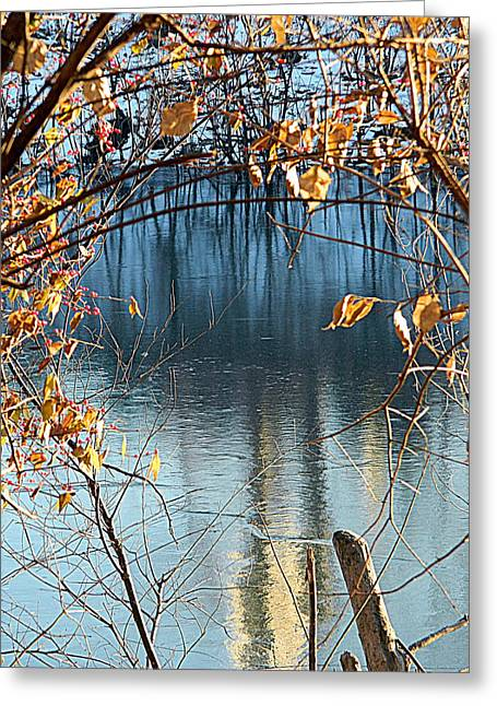 Healthy Greeting Cards - Frozen Blue Greeting Card by Kathy Barney