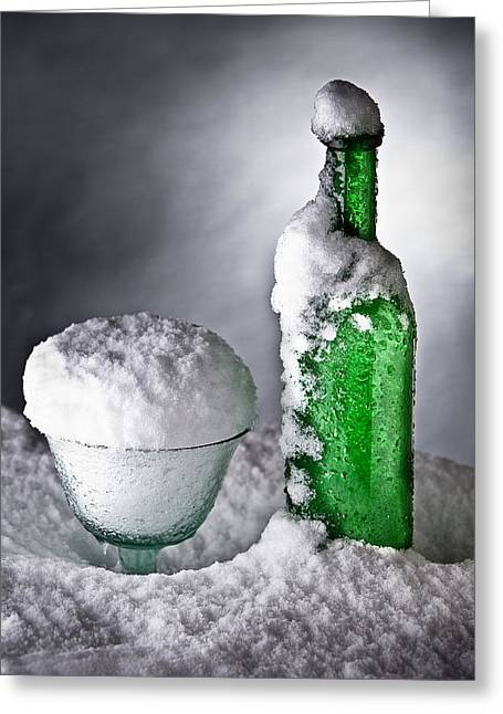 Taster Greeting Cards - Frozen Bottle Ice Cold Drink Greeting Card by Dirk Ercken