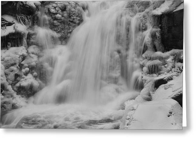Ice Crystals Greeting Cards - Frozen Calamity Greeting Card by Mark Kiver