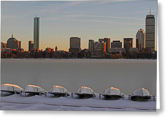New England Snow Scene Greeting Cards - Frozen Charles Greeting Card by Juergen Roth