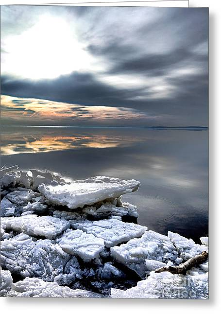 Chunk Greeting Cards - Frozen Chesapeake Greeting Card by Olivier Le Queinec