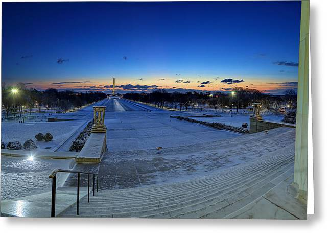Washington Dc Greeting Cards - Frozen DC Greeting Card by Metro DC Photography