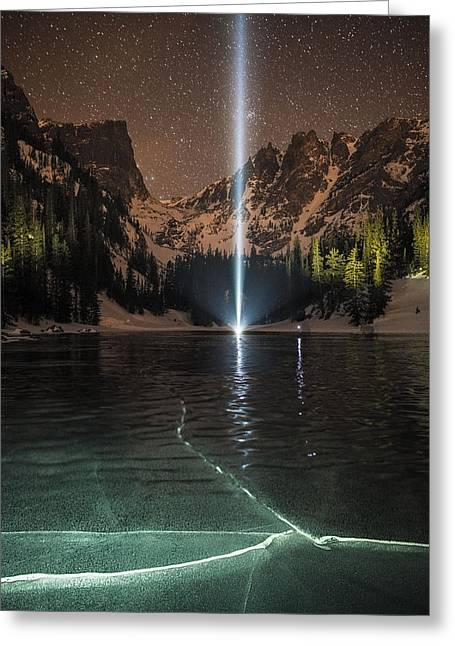 Colorado Captures Greeting Cards - Frozen Illumination At Dream Lake RMNP Greeting Card by Mike Berenson
