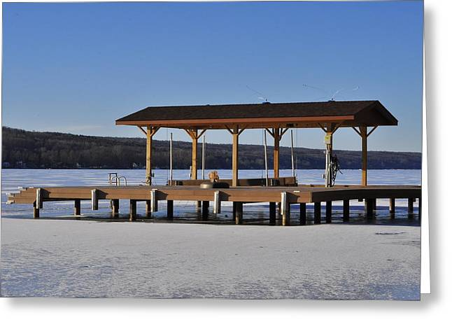 Keuka Greeting Cards - Frozen In Place Greeting Card by Melanie Bellis