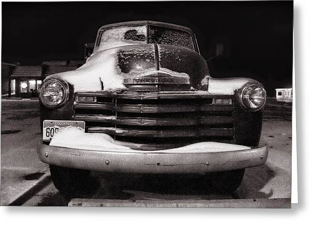 Chevrolet Pickup Truck Greeting Cards - Frozen in Time Greeting Card by Ken Smith