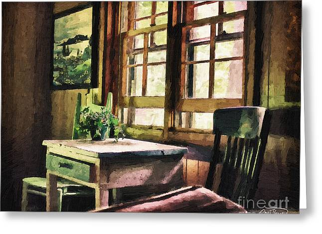 Cris Hayes Greeting Cards - Frozen in Time - Oil Texture Greeting Card by Cris Hayes