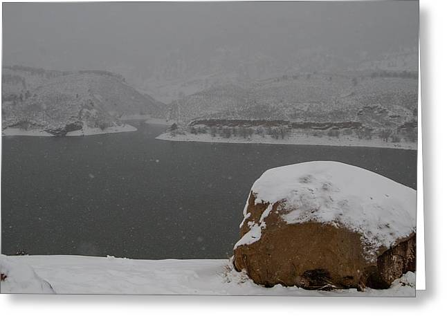 Fort Collins Greeting Cards - Frozen Inlet Greeting Card by Harry Strharsky