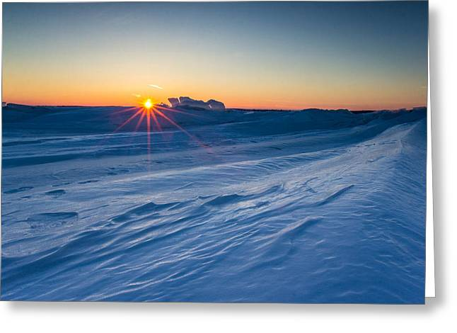 35mm Photographs Greeting Cards - Frozen Lake Minnewaska Greeting Card by Aaron J Groen