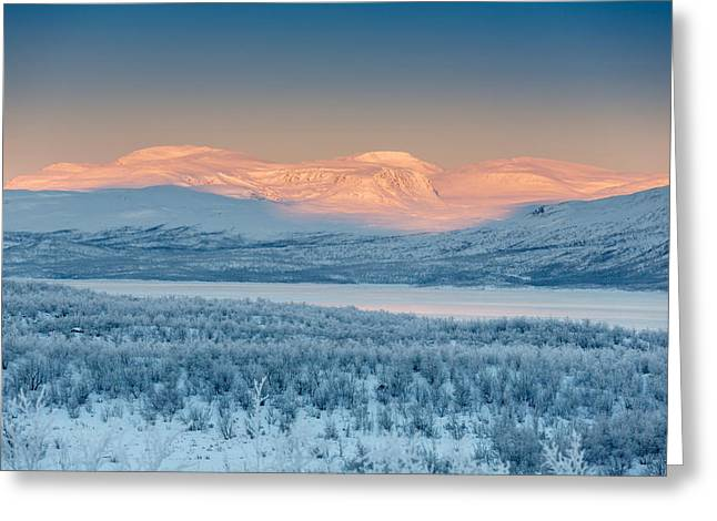 Temperature Greeting Cards - Frozen Landscape, Cold Temperatures Greeting Card by Panoramic Images
