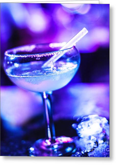 Night Cafe Greeting Cards - Frozen Margarita cocktail Greeting Card by Anna Omelchenko