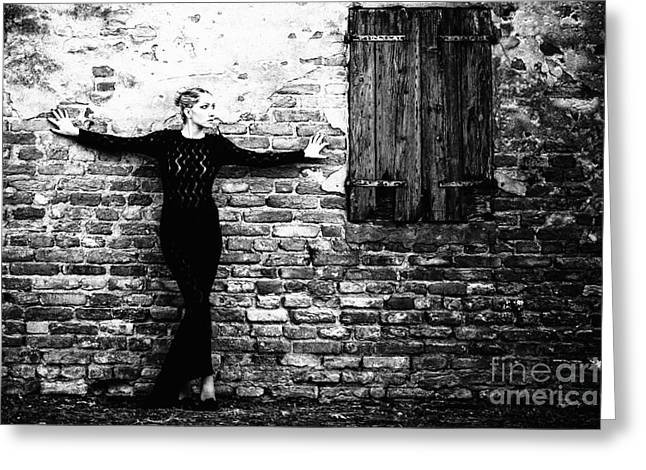 Black Clothes Greeting Cards - Frozen Memories Greeting Card by Traven Milovich