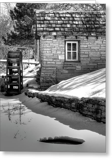 Frozen Mill Greeting Card by Thomas Young