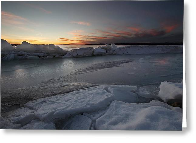 Shards Greeting Cards - Frozen Missouri Greeting Card by Aaron J Groen