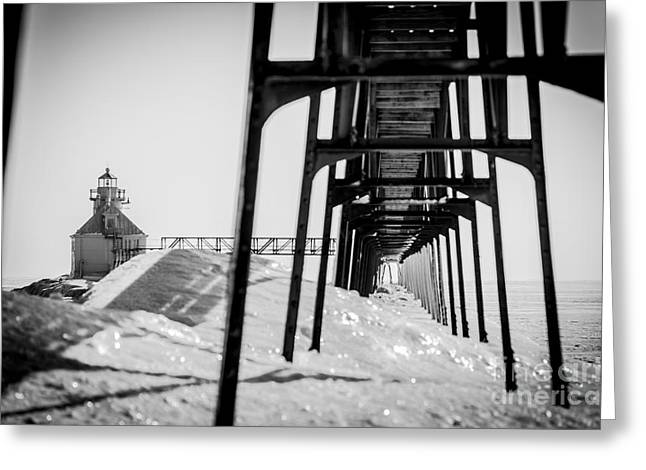 Sturgeon Greeting Cards - Frozen North Pier Greeting Card by Shutter Happens Photography