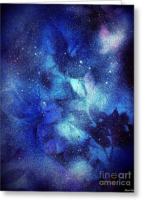 Snowy Night Mixed Media Greeting Cards - Frozen Out Greeting Card by Sarah  Rachel
