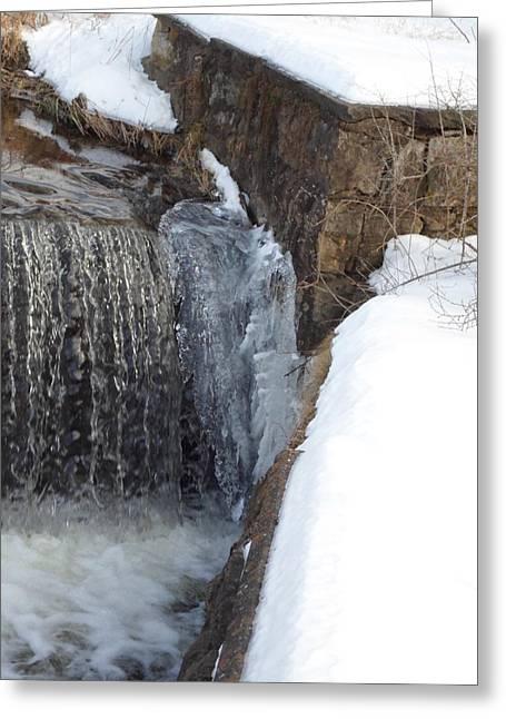 Jenna Mengersen Greeting Cards - Frozen Over with Ice Greeting Card by Jenna Mengersen