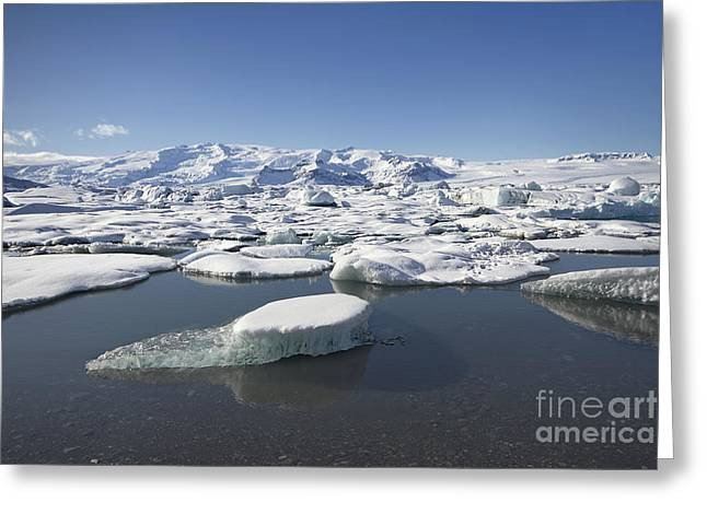 N.j. Greeting Cards - Frozen Paradise Greeting Card by Evelina Kremsdorf