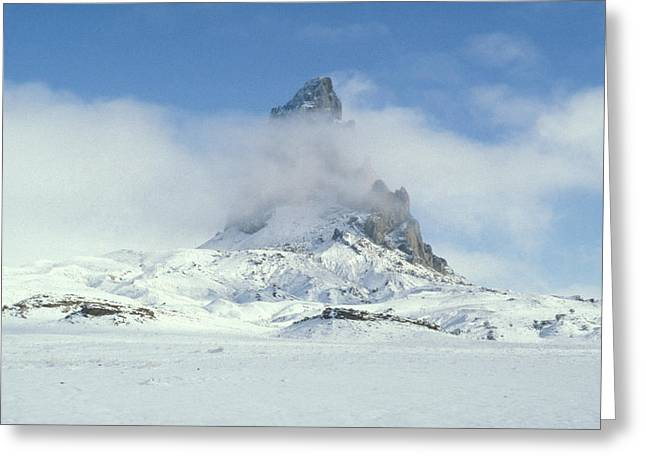 Frozen Peak 1001 Greeting Card by Brent L Ander