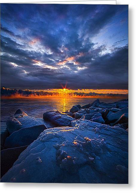 Frozen Photographs Greeting Cards - Frozen Greeting Card by Phil Koch