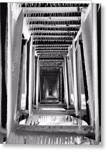 Saint Joseph Greeting Cards - Frozen Pier In Michigan Greeting Card by Dan Sproul