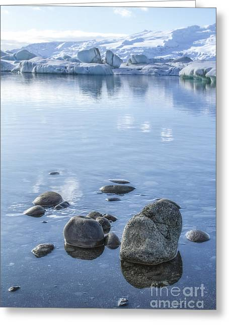 Glacial Greeting Cards - Frozen Serenity Greeting Card by Evelina Kremsdorf