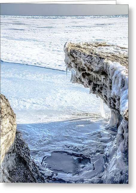 Floating Ice Sheet Greeting Cards - Frozen shores Greeting Card by LeeAnn McLaneGoetz McLaneGoetzStudioLLCcom