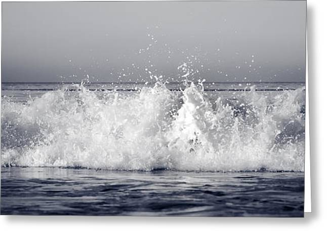 California Beach Greeting Cards - Frozen Water Greeting Card by Bronze Riser