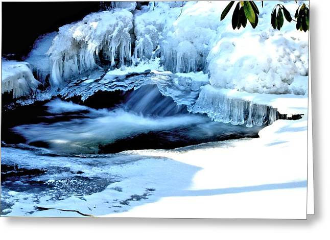 Jahred Allen Photography Greeting Cards - Frozen Waterfall Greeting Card by Jahred Allen