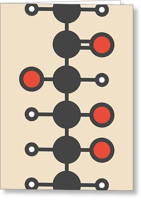 Fructose Fruit Sugar Molecule Greeting Card by Molekuul