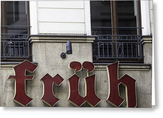 Fruh Am Dom Brauhaus Cologne Germany Greeting Card by Teresa Mucha