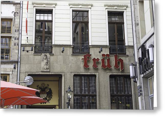 Italian Restaurant Greeting Cards - Fruh Brauhaus Cologne Germany Greeting Card by Teresa Mucha