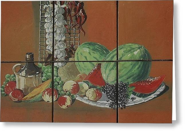 Food And Beverage Ceramics Greeting Cards - Fruit And Spice Greeting Card by Andrew Drozdowicz