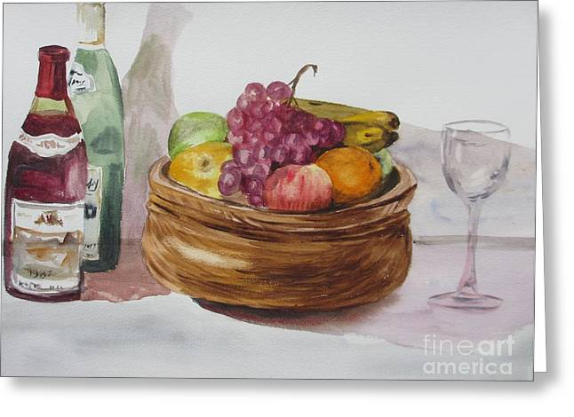 Fruit And Wine Greeting Cards - Fruit And Wine Greeting Card by Martin Howard