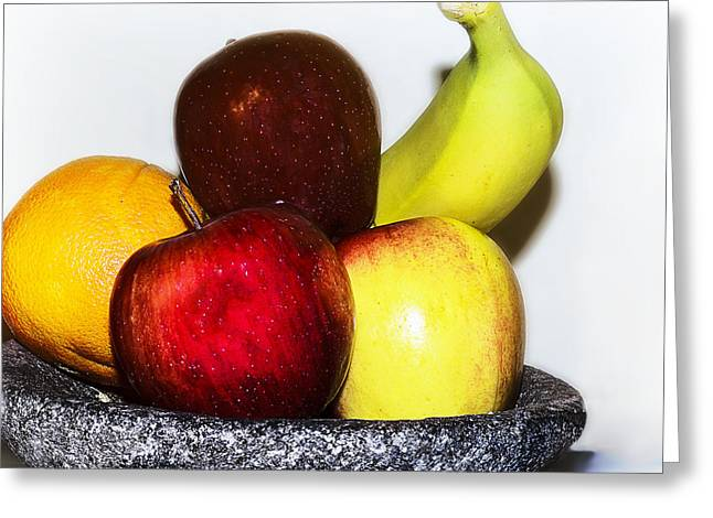 Sustenance Greeting Cards - Fruit Bowl Greeting Card by Camille Lopez