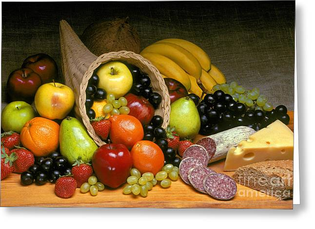 Concord Grapes Greeting Cards - Fruit Cornucopia  Greeting Card by Craig Lovell