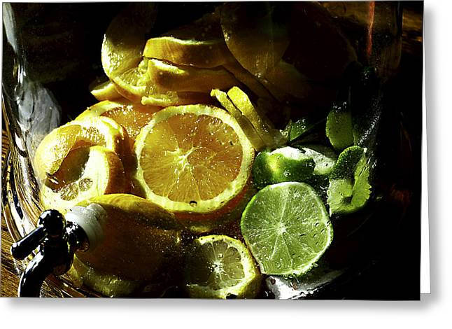 Punch Digital Greeting Cards - Fruit Drink Greeting Card by Camille Lopez