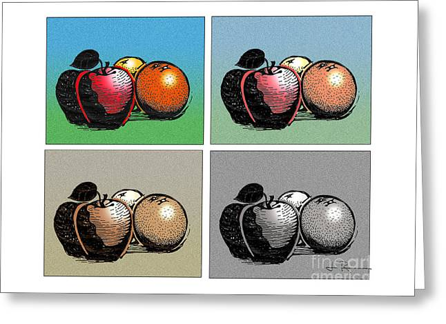 Fruit Group Greeting Card by Jim Rehlin
