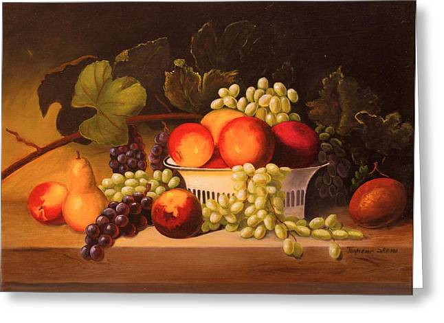 Fruit Harvest Greeting Card by Jeanene Stein