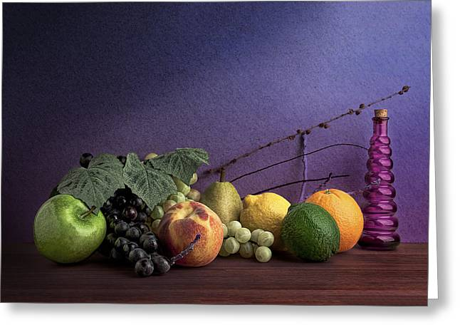 Harvest Art Greeting Cards - Fruit in Still Life Greeting Card by Tom Mc Nemar