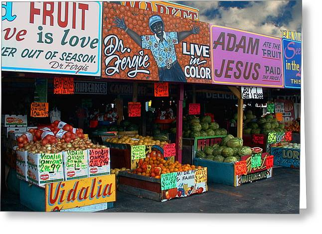 Fruit Is Love Greeting Card by Bill Marder